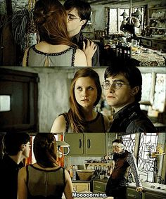 Funny pictures about Probably The Best Scene In Harry Potter. Oh, and cool pics about Probably The Best Scene In Harry Potter. Also, Probably The Best Scene In Harry Potter photos. Harry Potter Jokes, Harry Potter Fandom, Harry Potter World, George Harry Potter, Harry Potter Kiss, Harry Potter Ginny Weasley, Jarry Potter, Gina Weasley, Weasley Twins