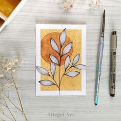 Flower Art Drawing, Flower Drawing Tutorials, Watercolor Print, Butterfly Watercolor, Easy Watercolor, Art Drawings Sketches Simple, Flower Sketches, Art Corner, Flower Canvas