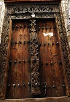 Swahili Door - Lamu, Kenya 2011 by Gigi Stoll Photography, via Flickr