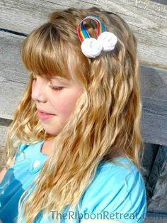 St. Patty's Day Rainbow Hair Clip Tutorial - {The Ribbon Retreat Blog}