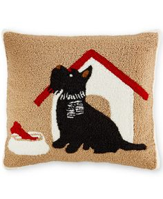 CLOSEOUT! Martha Stewart Collection Scottie Decorative Pillow, Only at Macy's - Decorative Pillows - Bed & Bath - Macy's