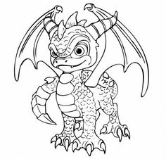 Skylanders Spyro's Coloring Pages for Kids >> Disney Coloring Pages