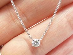 BEAUTIFUL+floating+diamond+necklace++in+white+gold+++by+gems4borth