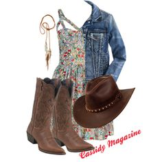 """Cute Cowgirl"" by cassidymagazine on Polyvore"