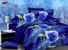 #blue #rose #duvetcoverset Buy link>>>http://urlend.com/Y3QRjaF Live a better life, start with Beddinginn http://www.beddinginn.com/product/Graceful-Blue-Rose-Print-4-Piece-Polyester-Duvet-Cover-Sets-11034819.html