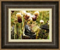 Home #decor Framed Photo Art for home, office and businesses with #yellow colors featuring the photograph If Only by Judi Saunders. Many styles and colors of frames available.