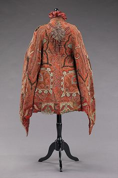 Wool and silk dolman, American, ca. 1875.  Brooklyn Museum Costume Collection at The Metropolitan Museum of Art