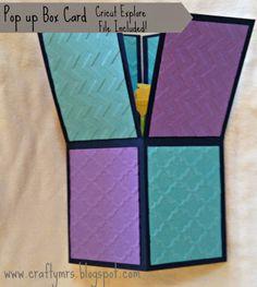 Cricut Explore {Pop Up Box Card} A2 sized with Design Space File