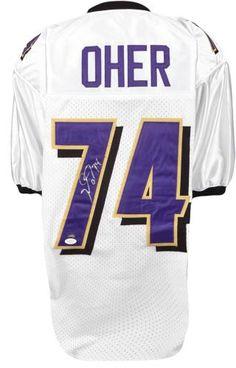 Michael Oher Signed Authentic Jersey - JSA Witness - Sports Memorabilia #MichaelOher #Ravens #SportsMemorabilia