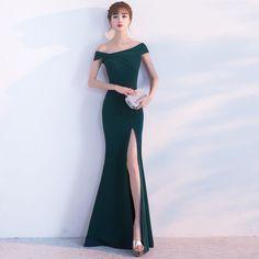 a157c0b103 Buy Anlela Off-Shoulder Slit Mermaid Evening Gown