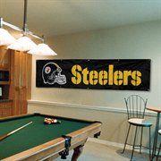 Pittsburgh Steelers 8' x 2' Banner - Black