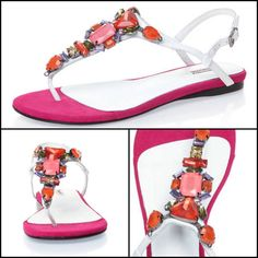 For the ultimate holiday look, our hot pink jewel sandals will add a touch of summer sunshine to your outfits. Jeweled Sandals, Holiday Looks, Hot Pink, Sunshine, Jewels, Touch, Summer, Outfits, Shoes