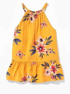 She'll look great in girls' shirts and blouses from Old Navy. These shirts for girls are trendy and ready to make her feel special. Cute Girl Outfits, Toddler Outfits, Kids Outfits, Baby Girl Frocks, Frocks For Girls, Girls Dresses, Baby Girl Fashion, Kids Fashion, Cute Summer Shirts