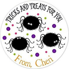 40 labels Circle Halloween spiders party Stickers, Personalized Labels, Custom Party Favor Tags, Choice of Size Halloween Labels, Halloween Stickers, Halloween Spider, Halloween Fun, Party Favor Tags, Personalized Stickers, Spiders, Spider, Personalised Stickers