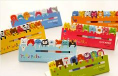 Styles de Post-it Filofax 6 yuru mignon animaux autocollants