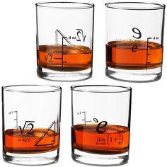 Math Drinking Glass Set