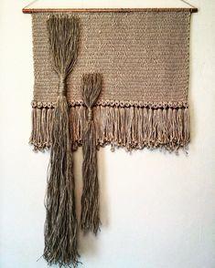 String and copper.  #weaving #macrame #fiberart #madeinmelbourne #tissage #copper #nicolepollockdesign #loom #wovenwallhanging