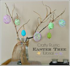 How To Make A Rustic Easter Egg Tree