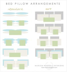 Bed pillow arrangements. Not that important, but cool if I ever want to change things up.