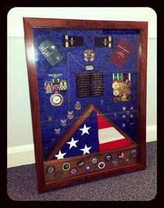 #Navy Shadow box #navy shadowbox   Navy Shadowbox built for CW04 Ray Castillo