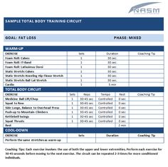 Sample Total Body Training Circuit - NASM Blog