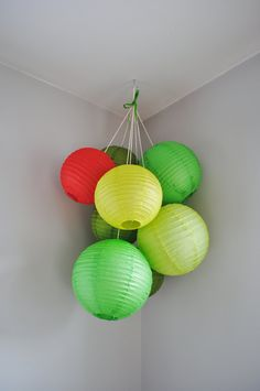 The Very Hungry Caterpillar Large Paper Lantern by janiegirlcrafts, $85.00