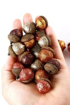 Paint/ glitter acorns for fall decor