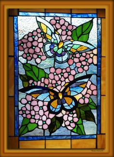 Stained Glass Art | Butterfly Stained Glass Window Photograph