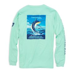 Southern Tide Skipjack Tournament Long Sleeve T-Shirt in Offshore Green