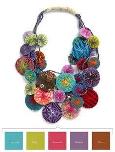 Color Breakdown: Diameters Are a Girl's Best Friend Necklace -