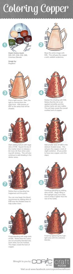 Coloring Copper with copic markers --> If you're in the market for the…