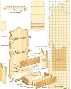 Build a heritage spoon rack