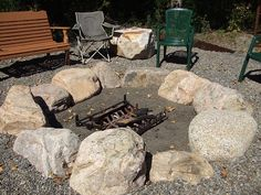 Image result for rock fire pit ideas