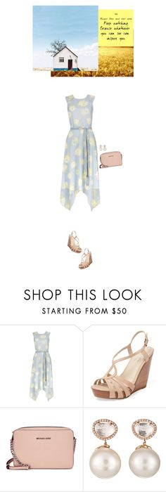 """Keep watching"" by blueeyed-dreamer ❤ liked on Polyvore featuring Seychelles, Michael Kors, Samira 13, Summer, floral and Wedges"