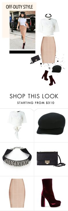 """Off Duty Style"" by likepolyfashion ❤ liked on Polyvore featuring E L L E R Y, Yohji Yamamoto, DANNIJO, Jimmy Choo, Hervé Léger, Miu Miu and offduty"