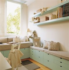 Great storage idea! Love the color too!