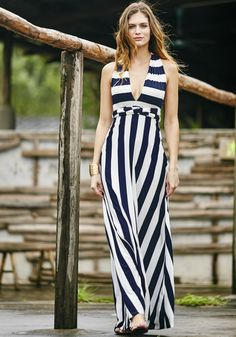 Stripe Magic Maxi Dress
