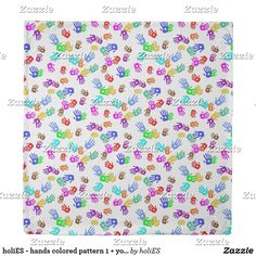holiES - hands colored pattern 1 + your backgr. Duvet Cover