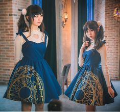 Sweet Lolita Harajuku Magic Prints Vintage Gothic Suspender Dress Elegant#KT169 #Unbranded
