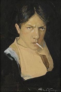 Gustaf Tenggren (1896-1970), Self-portrait, circa 1914.