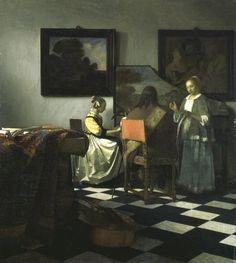 "Clock Is Ticking on $10 Million Reward in Gardner Art Heist -Vermeer's painting ""The Concert,"" which was stolen from the Gardner in 1990."