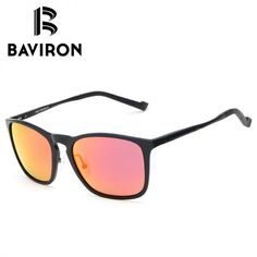 382def3de94 BAVIRON Spring Hinge Legs Sunglasses Men Al-Mg Frame Tinted Polarized  Glasses Popular Square UV400