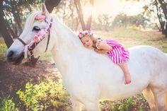 Well Dressed Wolf WDW Fruit Stripe dress Unicorn child photography Unicorn photography fairytale pony