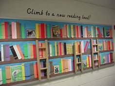 Not very functional, but very cute wall decor!! Maybe this could be used as an idea for what the kids read and they can pin a book on and try to fill the board by the end of the year?
