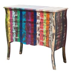 Rainbow vintage ladenkast - Kare Design Furniture Direct, Vintage Designs, Painted Furniture, Robin, New Homes, Rainbow, Table, Tv, Home Decor