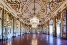 Interior of Queluz Nationsl Palace. Look at that gilding!