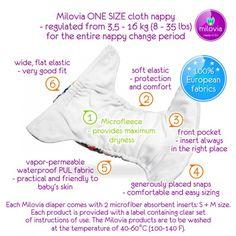 Milovia Onesize Pocketwindel inkl. 2 Einlagen - Blumenkinder.eu - Stoffwindeln, Stoffbinden, Menstruationstassen, Stofftaschentücher, Babykl...