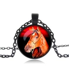 Vintage Glass Horse Necklace //Price: $14.99 & FREE Shipping //     #hashtag3