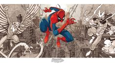 Big Spiders, Rocket Raccoon, Fantasy Fiction, Marvel Comic Character, Man Vs, Amazing Spider, Marvel Comics, Giclee Print, Spiderman