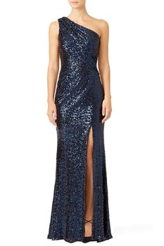 Navy Constellation Gown by Badgley Mischka for $100 | Rent The Runway